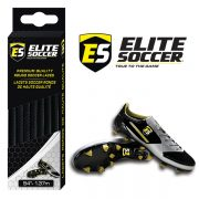 Round Elite Soccer Laces Black