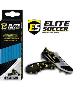 Round Elite Soccer Laces Elecric Blue