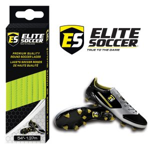 Round Elite Soccer Laces Neon Yellow