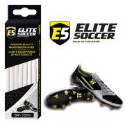 Round Elite Soccer Laces White