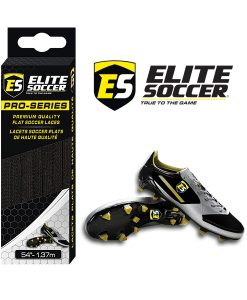 Flat Elite Soccer Laces Black