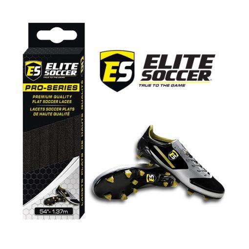 Flat Elite Soccer Laces Black