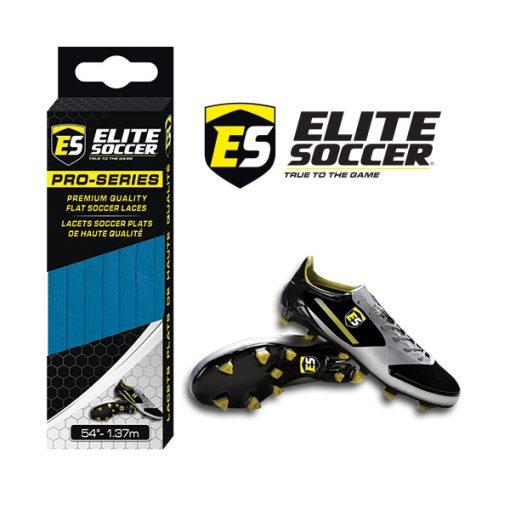 Flat Elite Soccer Laces Electric Blue