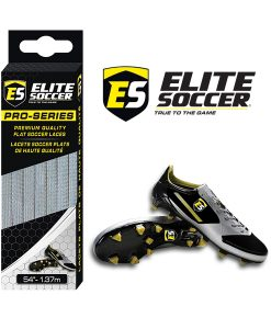 Flat Elite Soccer Laces Grey