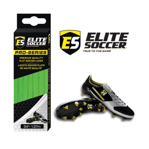 Flat Elite Soccer Laces Lime Green