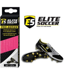 Flat Elite Soccer Laces Neon Pink