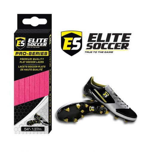 Flat Elite Soccer Laces Neon Pink