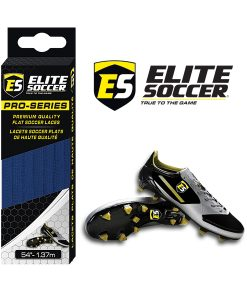 Flat Elite Soccer Laces Neon Royal