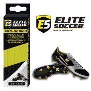 Flat Elite Soccer Laces Neon Yellow