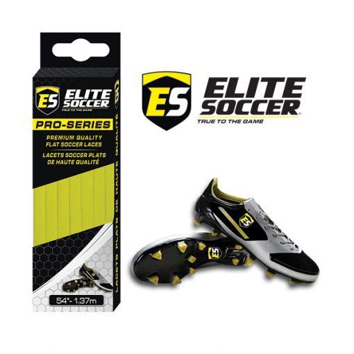Flat Elite Soccer Laces Neon Yellow