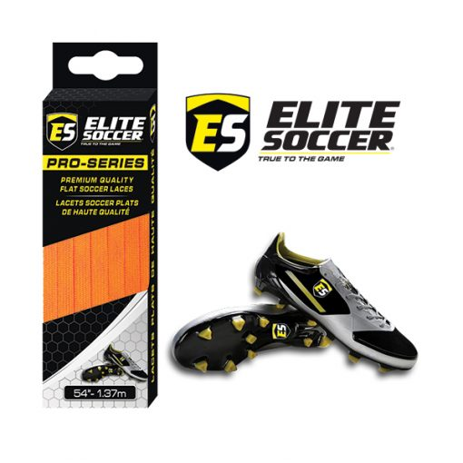 Flat Elite Soccer Laces Orange