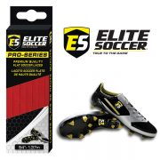 Flat Elite Soccer Laces Red
