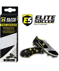 Flat Elite Soccer Laces White