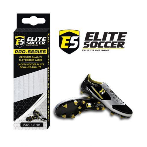 Flat Elite Soccer Laces White