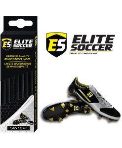 Lacets Ronds Noir de Elite Soccer
