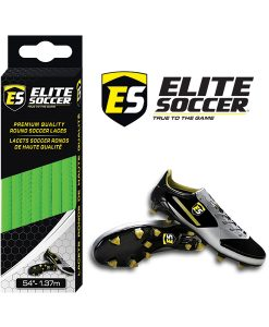 Round Elite Soccer Laces Lime Green