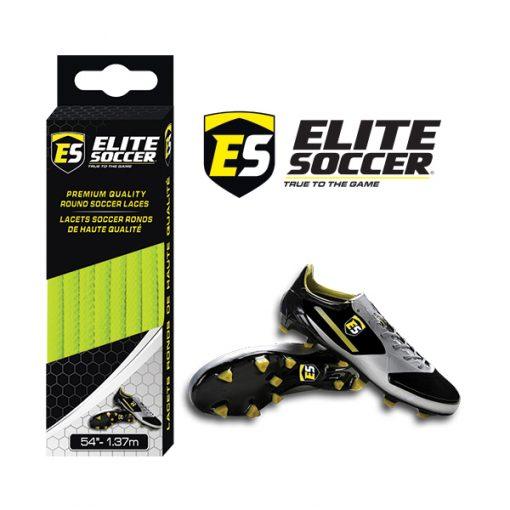 Round Elite Soccer Laces Neon Yellow
