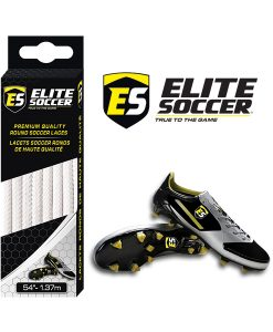 Lacets Ronds Blanc de Elite Soccer