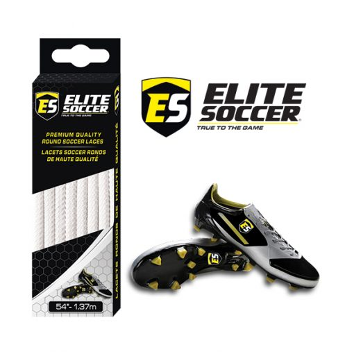 Round Elite Soccer Laces White
